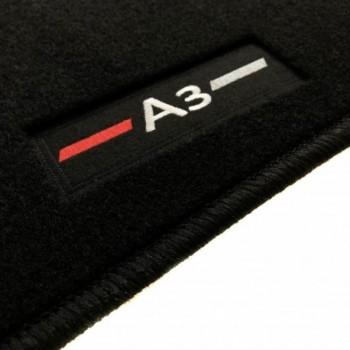 Alfombrillas Audi A3 8V7 Cabriolet (2014 - actualidad) a medida logo