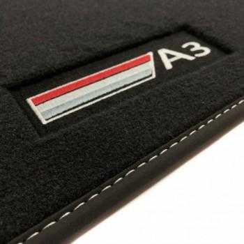 Alfombrillas Audi A3 8VA Sportback (2013 - actualidad) Velour logo