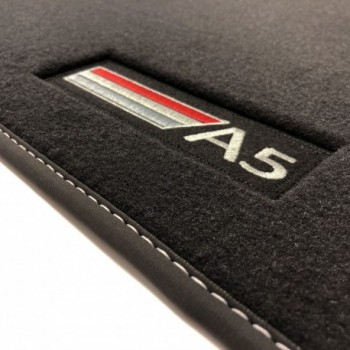 Alfombrillas Audi A5 8T3 Coupé (2007 - 2016) Velour logo