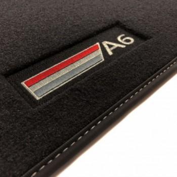 Alfombrillas Audi A6 C6 Restyling Sedán (2008 - 2011) Velour logo