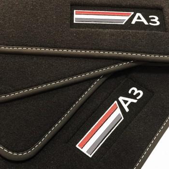 Alfombrillas Audi A3 8V7 Cabriolet (2014 - actualidad) Velour logo