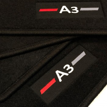 Alfombrillas Audi A3 8V Hatchback (2013 - actualidad) a medida logo