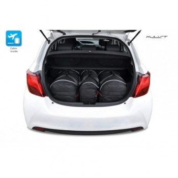 Kit de maletas a medida para Toyota Yaris 3 o 5 puertas (2011 - 2017)