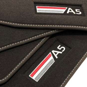 Alfombrillas Audi A5 F5A Sportback (2017 - actualidad) Velour logo