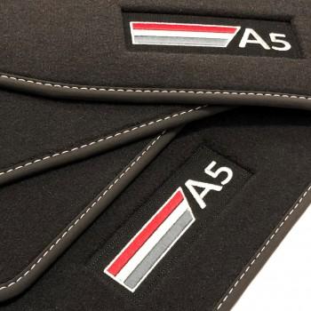 Alfombrillas Audi A5 F57 Cabriolet (2017 - actualidad) Velour logo