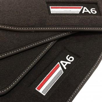 Alfombrillas Audi A6 C6 Restyling Allroad Quattro (2008 - 2011) Velour logo