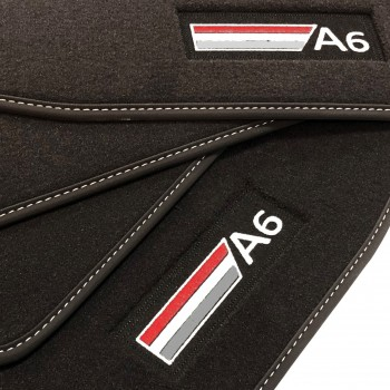 Alfombrillas Audi A6 C6 Restyling Avant (2008 - 2011) Velour logo