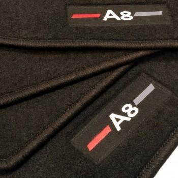 Alfombrillas Audi A8 D2/4D (1994-2003) a medida logo