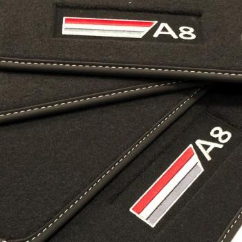 Alfombrillas Audi A8 D5 (2017-actualidad) Velour logo
