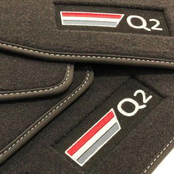 Alfombrillas Audi Q2 Velour logo