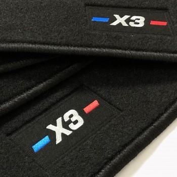 Alfombrillas BMW X3 F25 (2010 - 2017) a medida logo