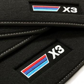 Alfombrillas BMW X3 G01 (2017 - actualidad) Velour M Competition