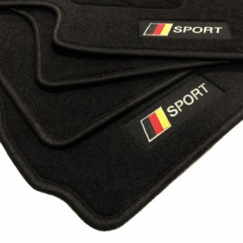 Alfombrillas bandera Alemania BMW Serie 7 F02 largo (2009-2015)