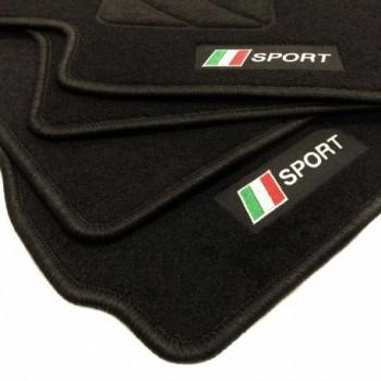Alfombrillas bandera Italia Fiat 124 Spider