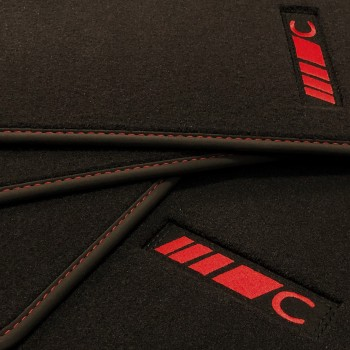 Alfombrillas Mercedes Clase C S204 Familiar (2007 - 2014) velour redline