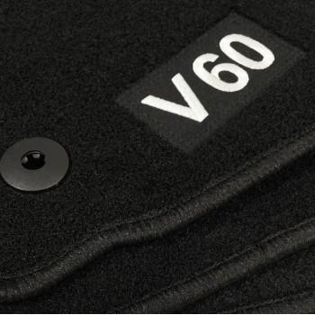 Alfombrillas Volvo V60 (2010 - 2018) a medida Logo