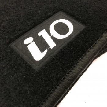 Alfombrillas Hyundai i10 (2008 - 2011) a medida Logo